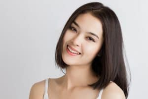 smiling lady with strong teeth